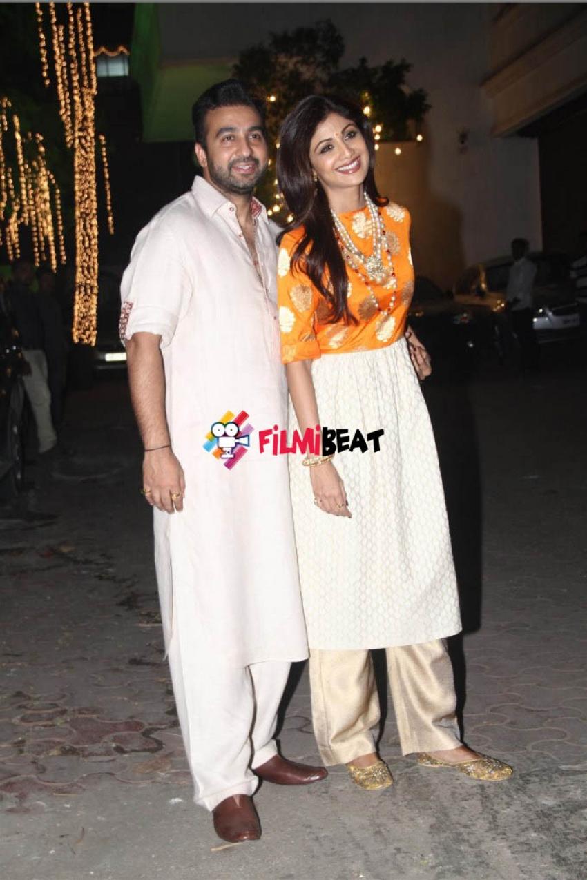 Shilpa Shetty & Raj Kundra Diwali Party Photos
