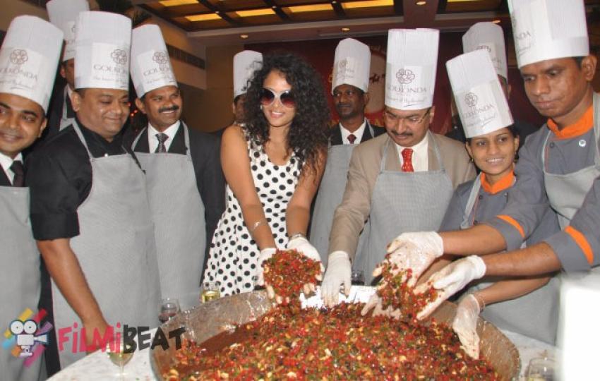 Sonia Deepti Cake Mixing At Golconda Hotel Photos
