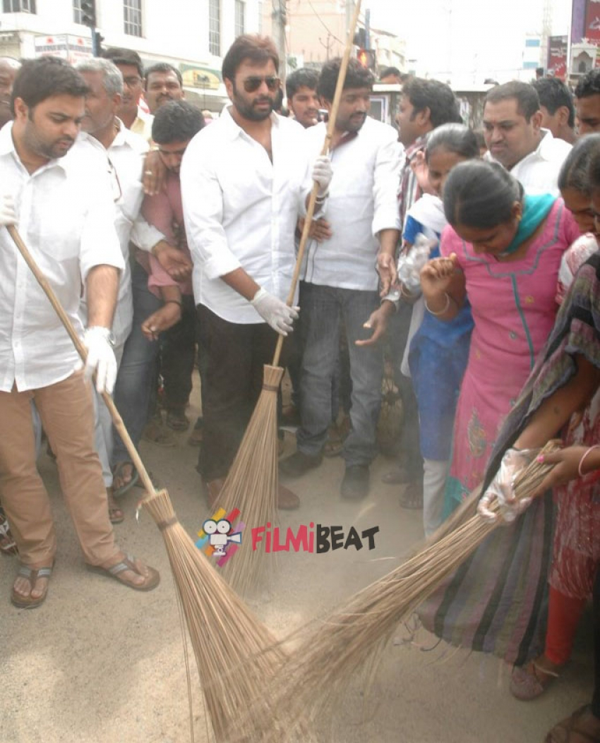 Nara Rohit Attended Swachh Bharat Photos