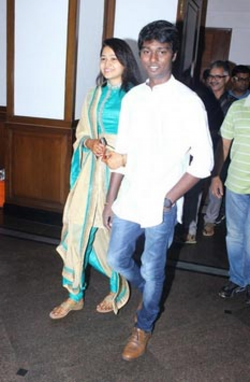 Director Atlee and Priya's Wedding Press Meet Photos