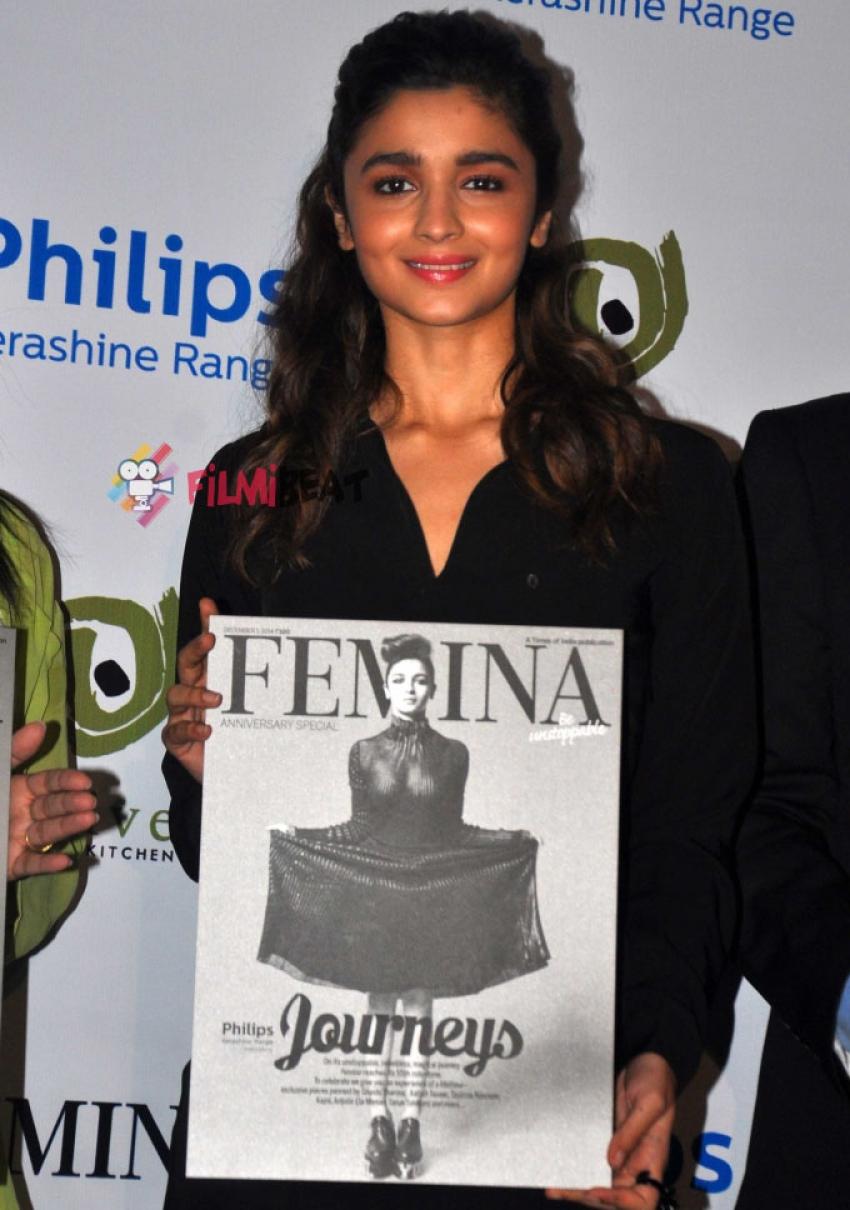 Alia Bhatt Launches Femina Magazine's 55th Anniversary Issue Photos