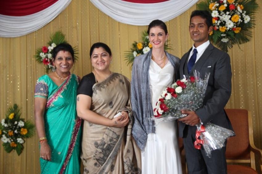 Anupama Subramanian Son Wedding Reception Photos