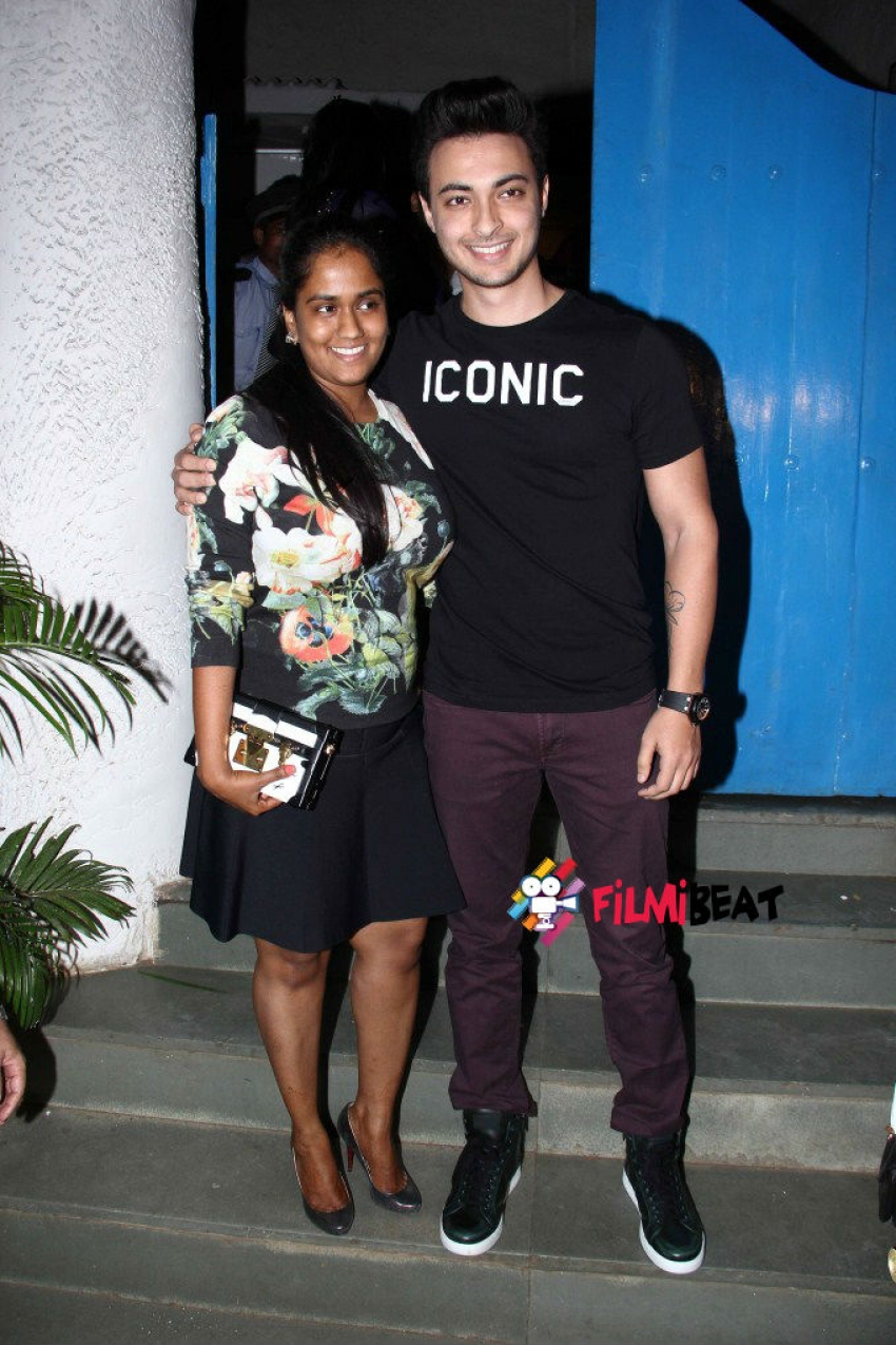 Arpita Khan And Ayush Sharma At Olive Bar Bandra Photos