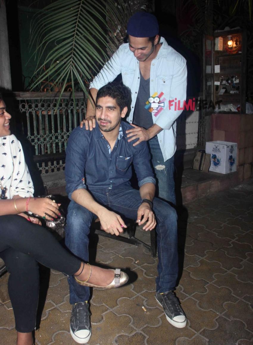 Varun Dhawan and Ayan Mukerji Snapped At Bandra Photos