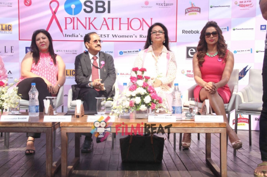 Bipasha And Milind Announce 3rd Edition Of Pinkathon Photos