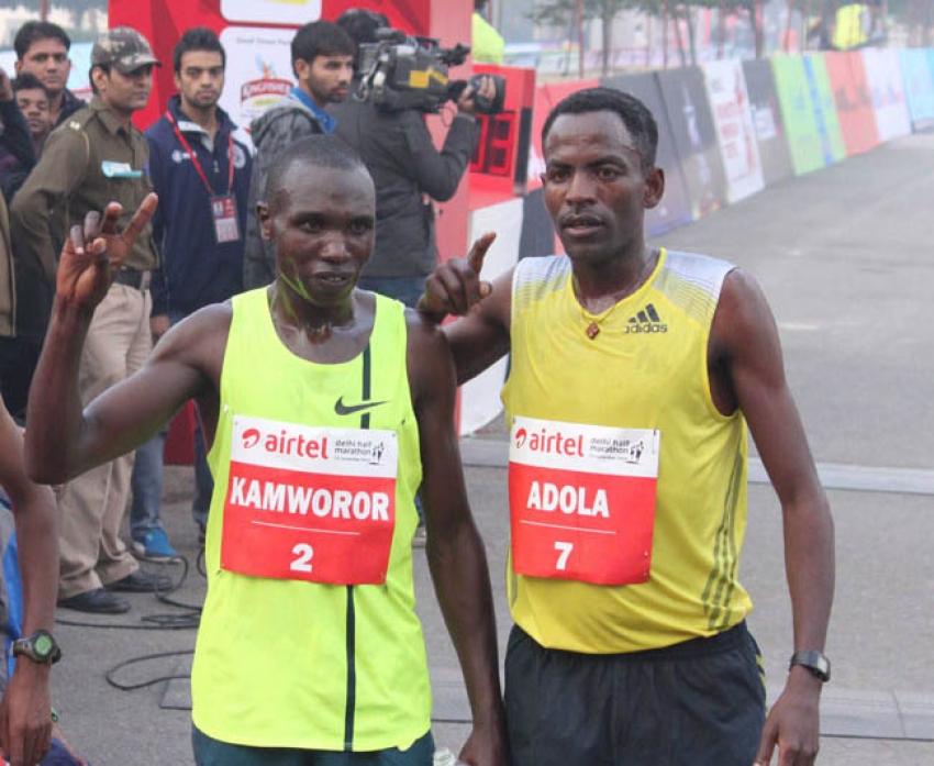 Bipasha ,Gul Pang & Rahul Bose at Airtel Delhi Half Marathon 2014 Photos