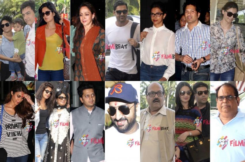 Bollywood Celebs Leave For Arpita Khan's Wedding Photos