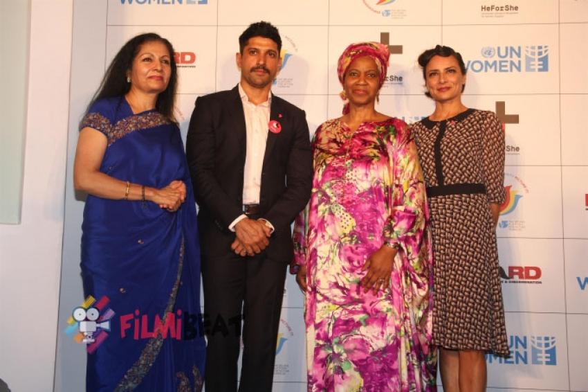 Farhan Akhtar Launches HeForShe Campaign Photos