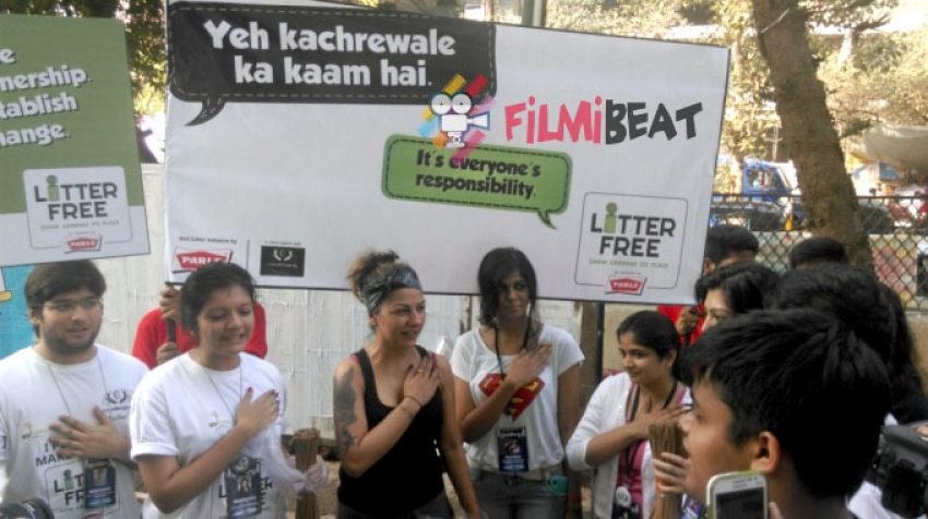 Hard Kaur At Parle's Litter Free Campaign Photos