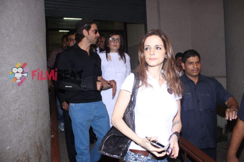 Hrithik Roshan And Suzzane Khan Snapped At Family Court Photos