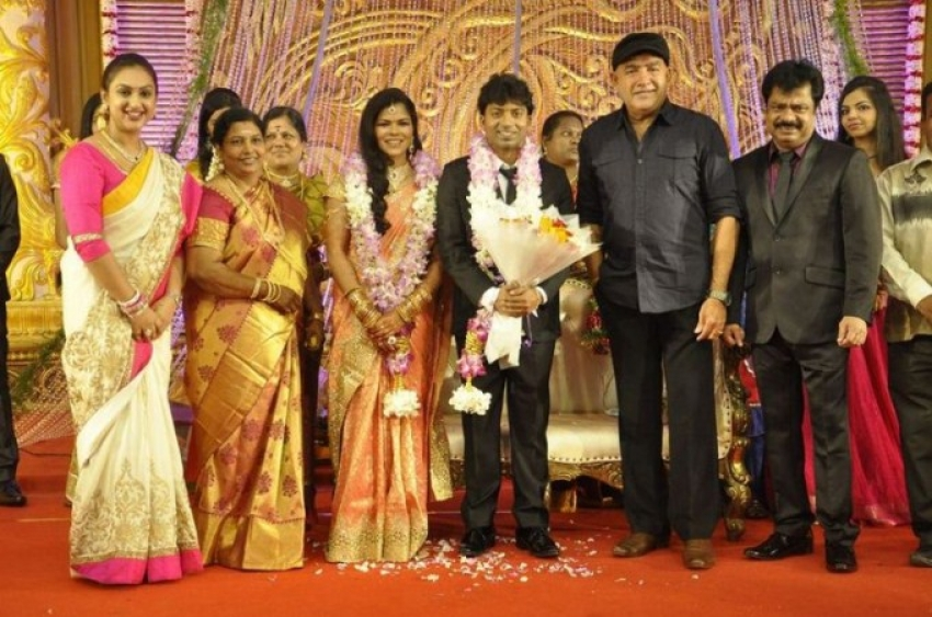 Pandiarajan Son Pallavarajan Wedding Reception Photos