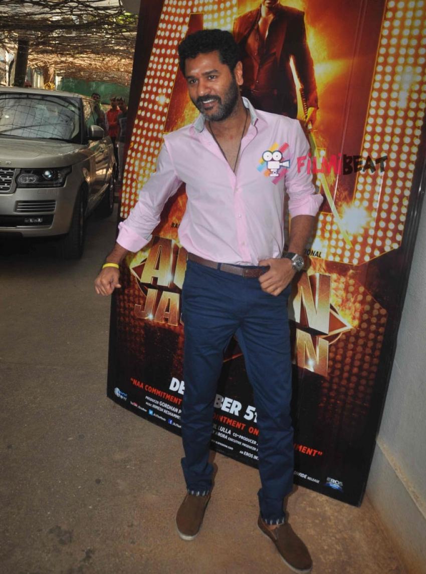 Ajay Devgn And Prabhu Deva Promote Action Jackson Photos