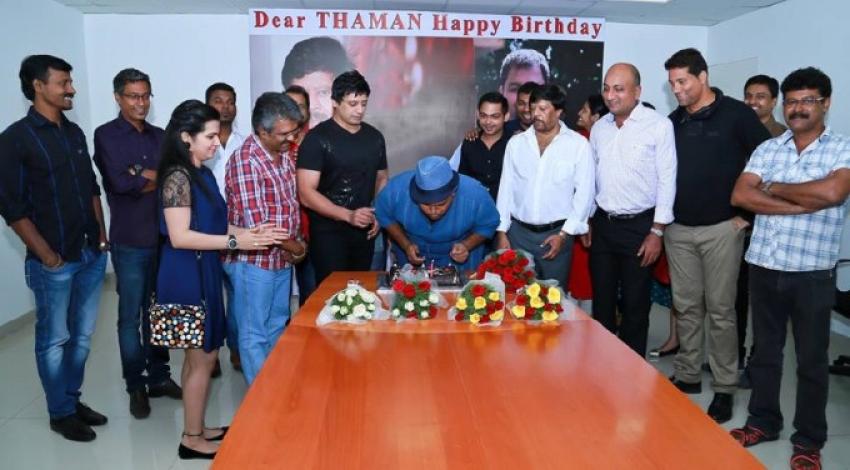 Prashanth's Surprise Birthday Gift To Thaman Photos
