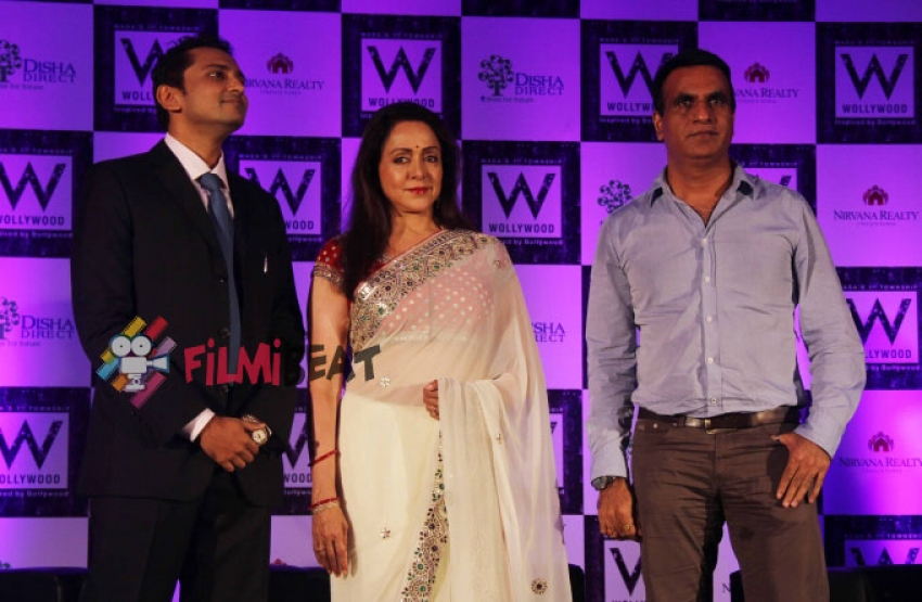 Hema Malini Launches Wollywood Integrated Township Photos
