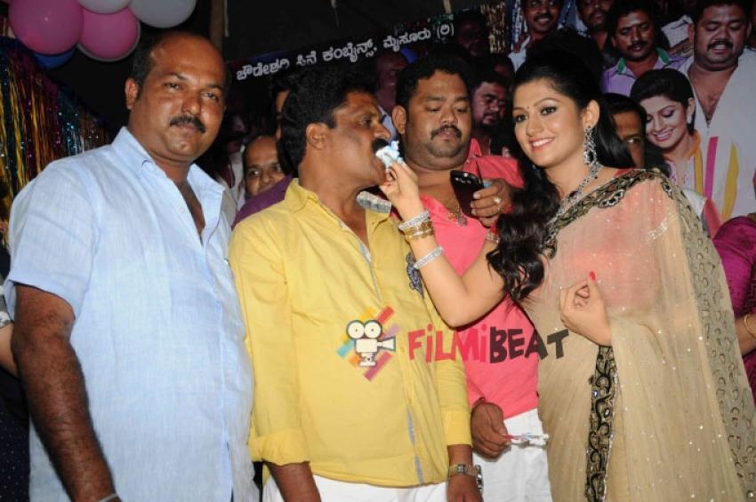 Radhika Kumaraswamy's Birthday And Namagaagi Film Press Meet Photos