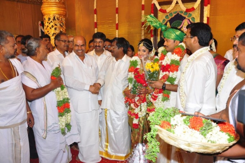 Raj TV Owner Son Wedding Photos