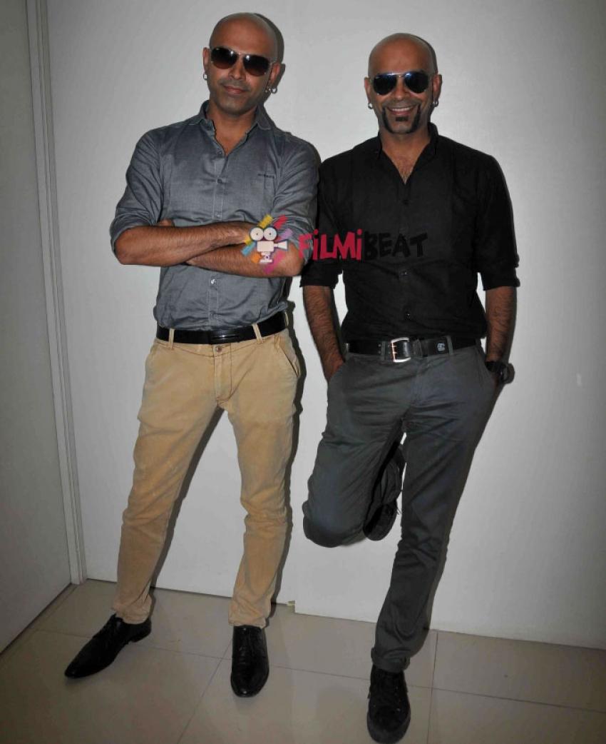 Raghu And Rajiv Address Media Photos