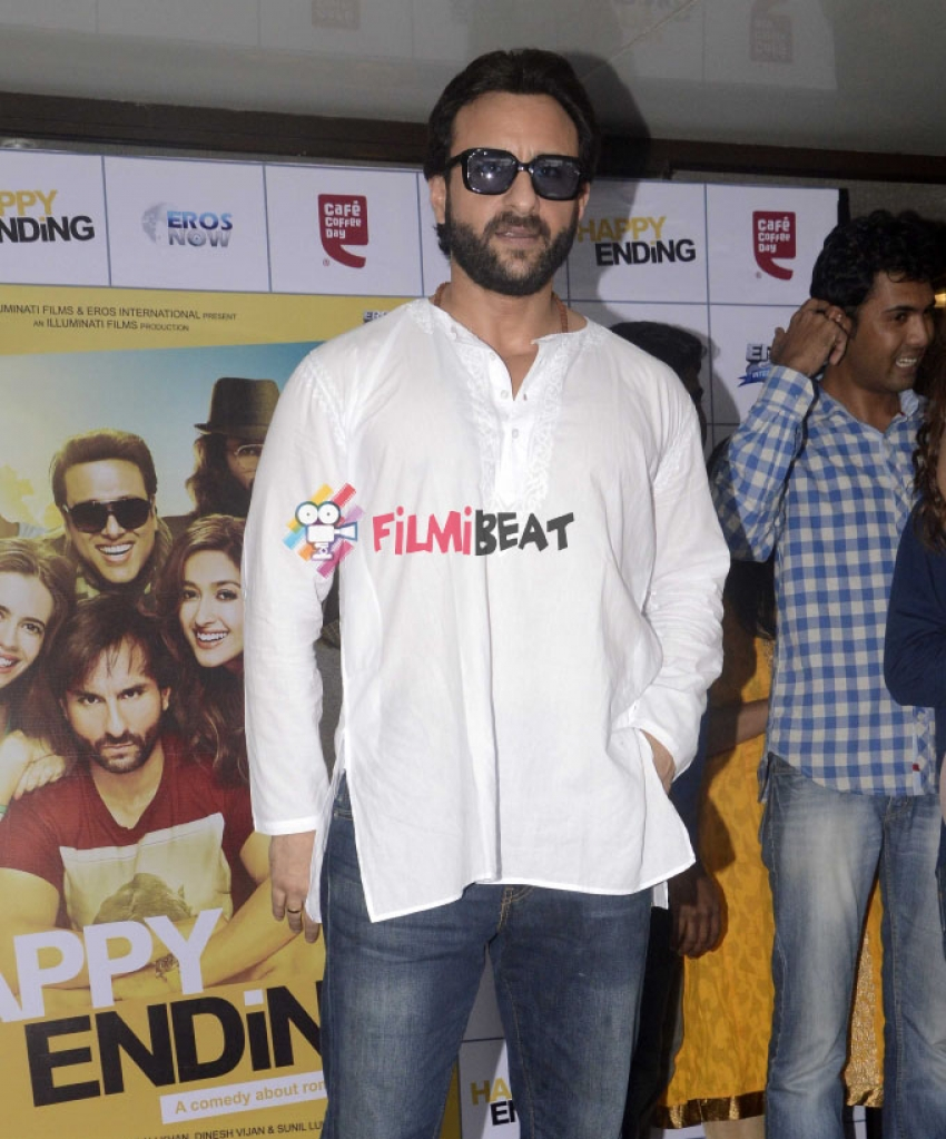 Saif And Ileana Promotes Happy Ending At Cafe Coffee Day Photos