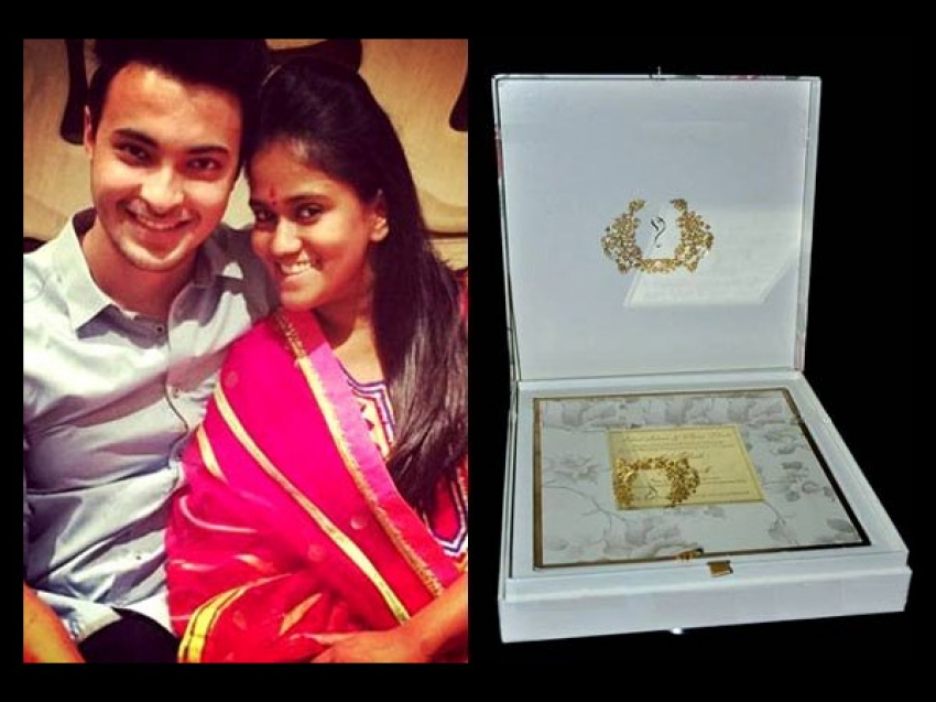 Salman Khan Sister Arpita Khan Wedding Invitation Photos