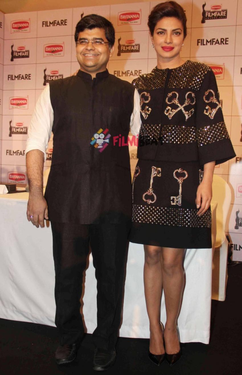 Priyanka Chopra At Announcement Of 60th Britannia Filmfare Awards Photos