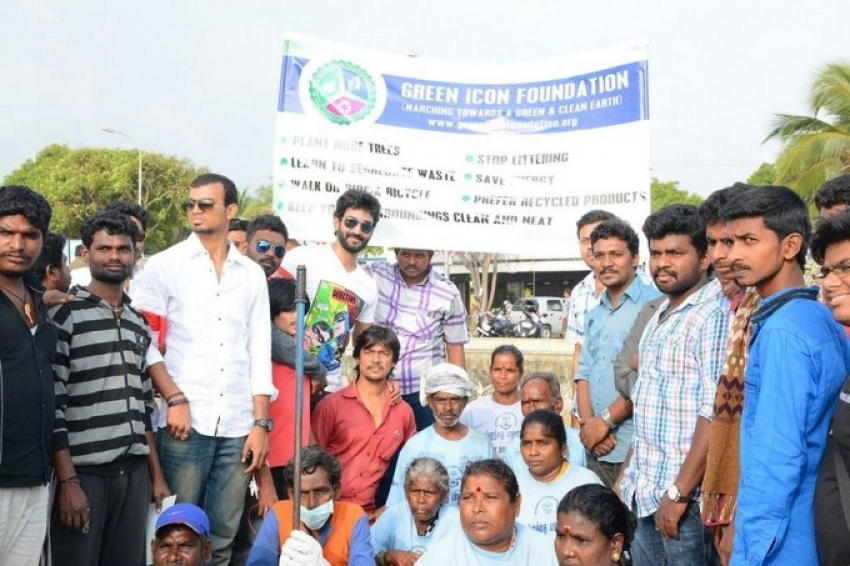 Aadhi Joins Clean India Campaign On His Birthday Photos