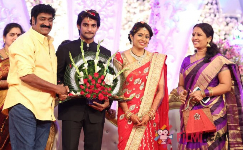 Actor Aadi And Aruna Wedding Reception Photos