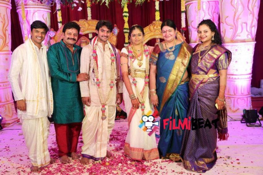Actor Aadi And Aruna Wedding Photos
