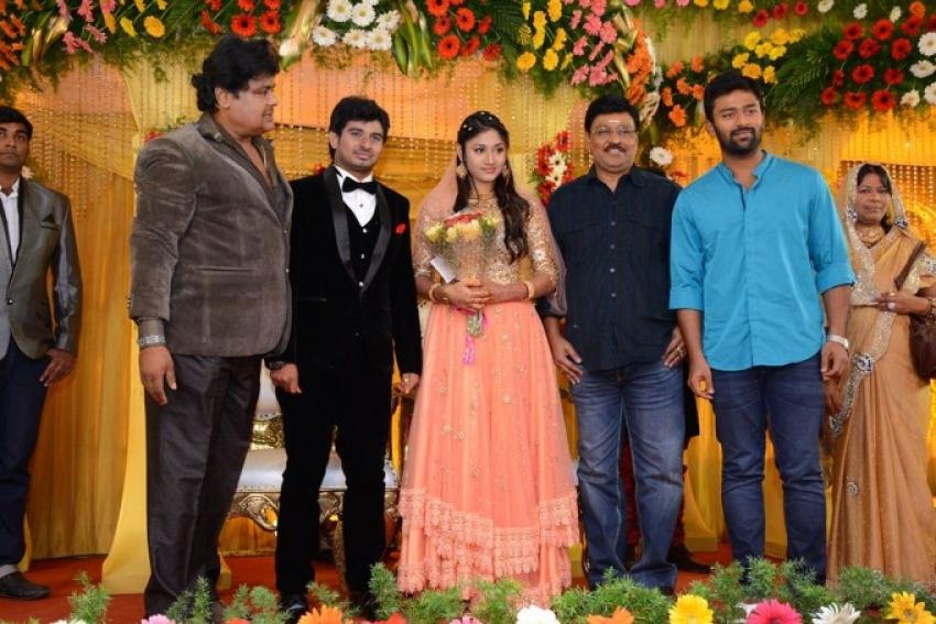 Actor Mansoor Ali Khan's Daughter Wedding Reception Photos