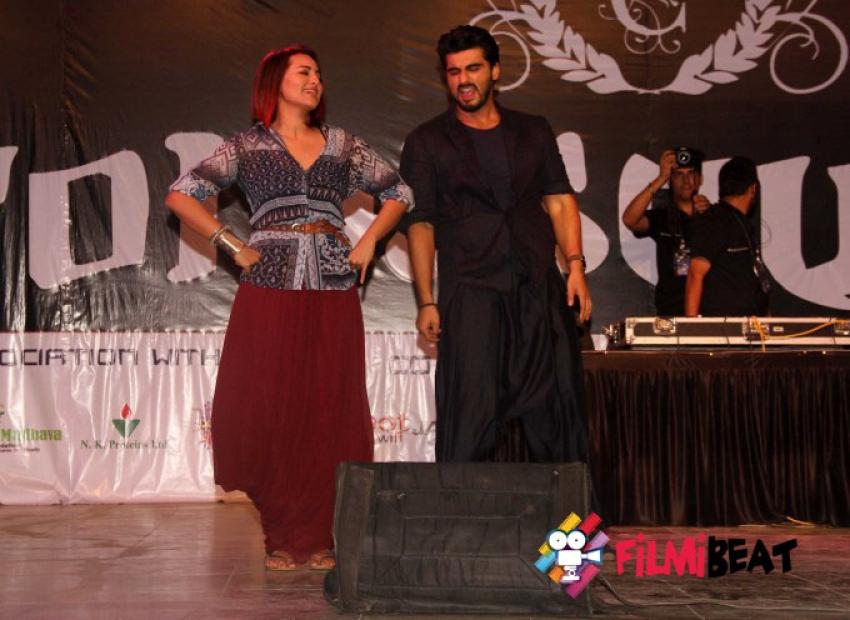 Tevar Movie Promotion At Mithibai College Fest Photos