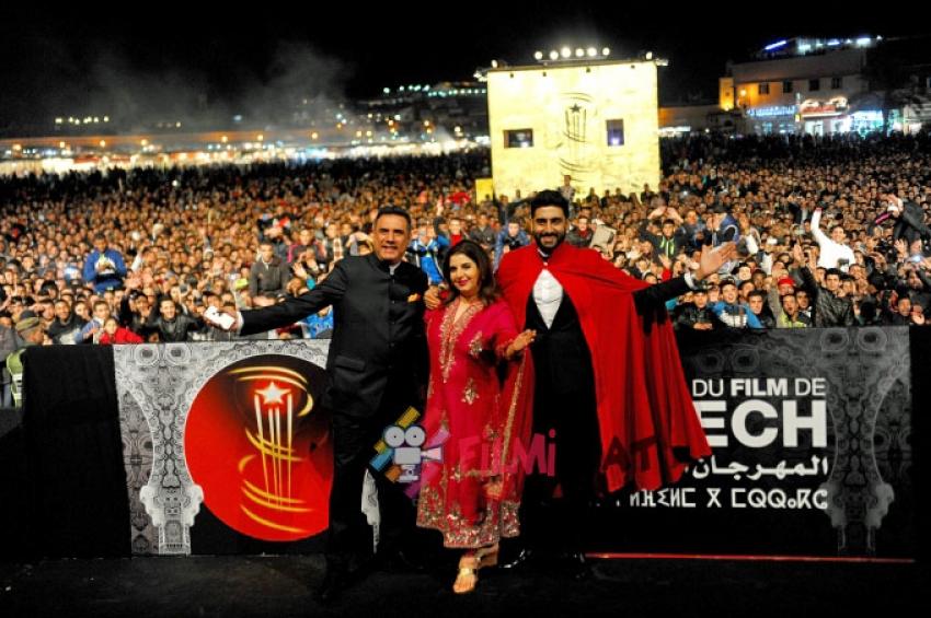 Farah, Abhishek & Boman Presented 'Happy New Year' At 4th Marrakech International Film Festival Photos