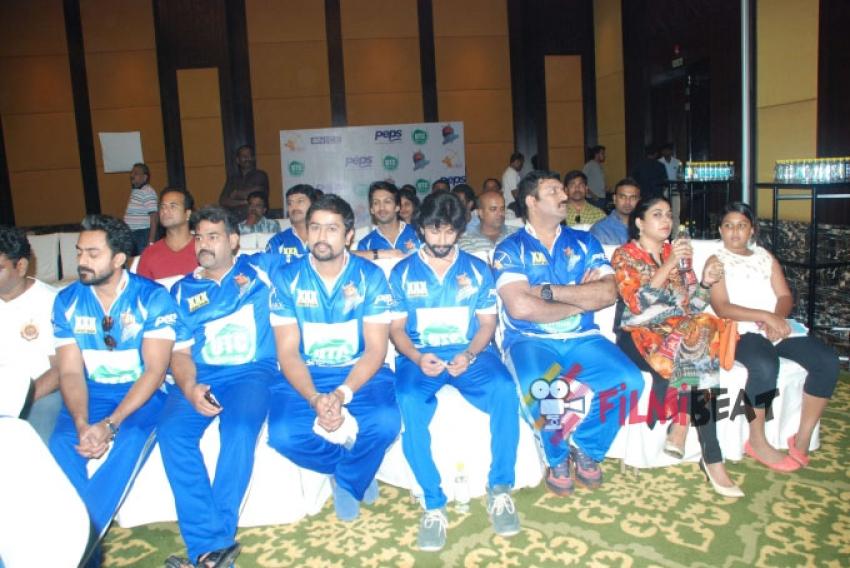 CCL 5 - Karnataka Bulldozers Press Meet Photos