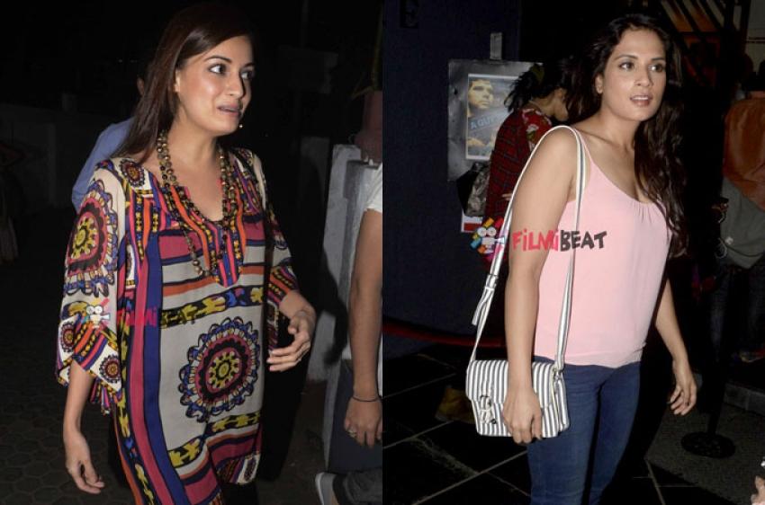 Dia Mirza And Richa Chadda Spotted At Prithvi Theatre Photos