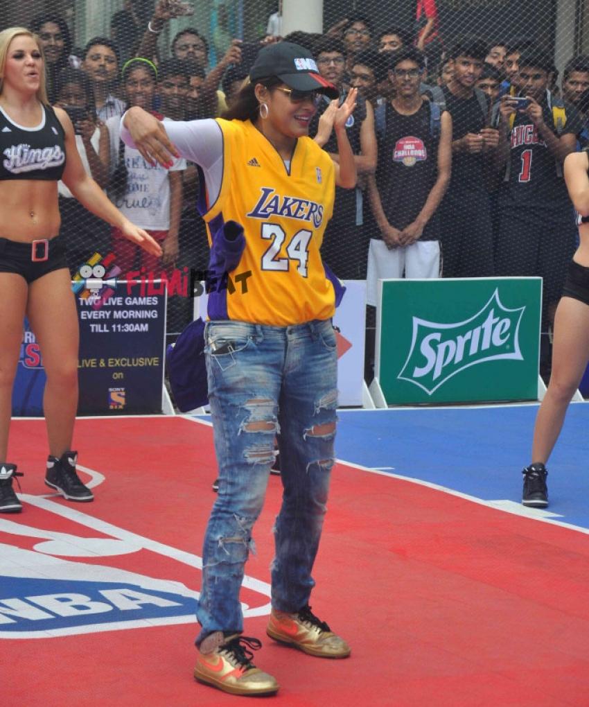 Neetu Chandra Slams Dunk For NBA Jam Photos