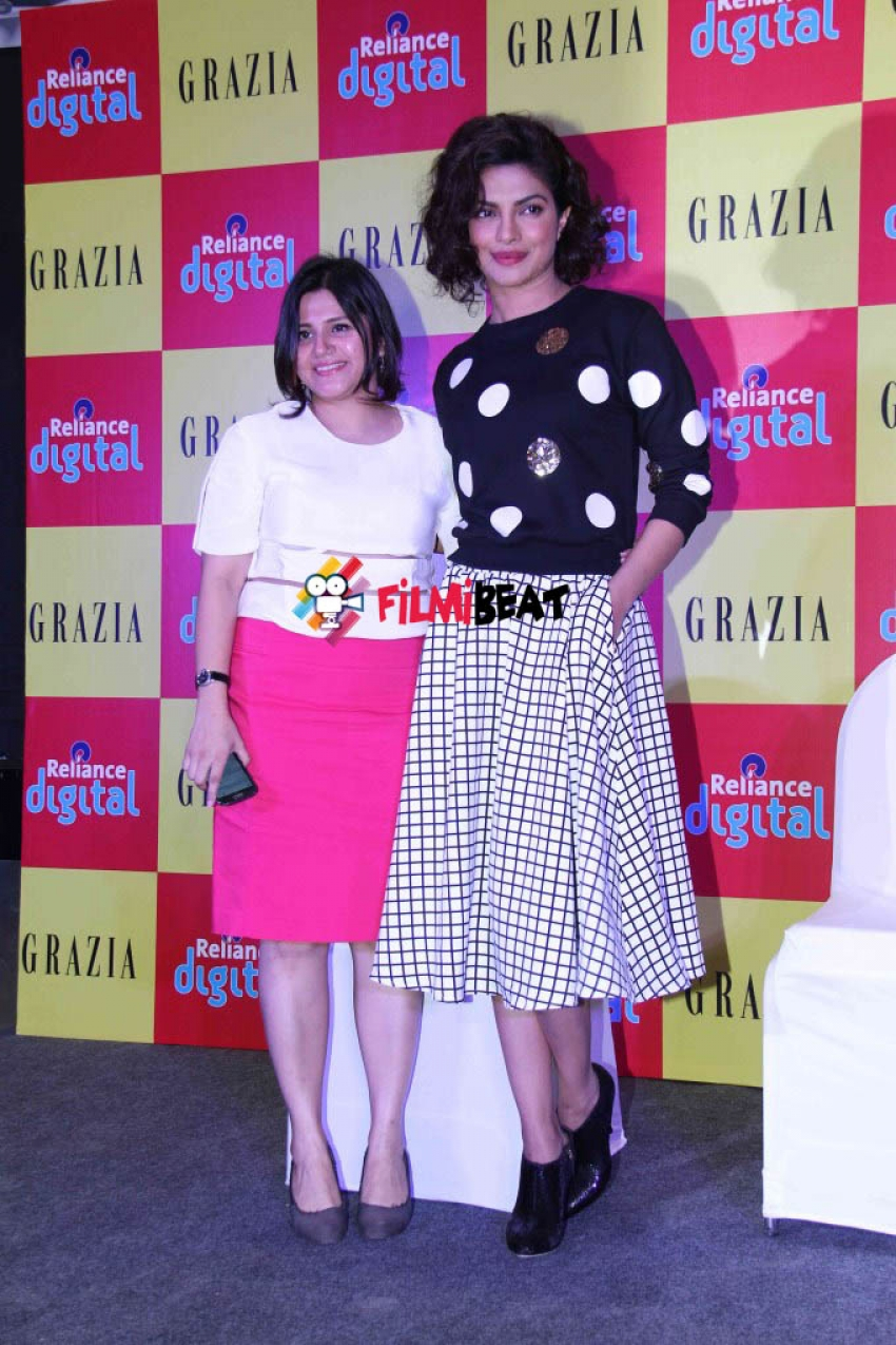 Priyanka Chopra Launches Grazia Magazine's December Issue Photos