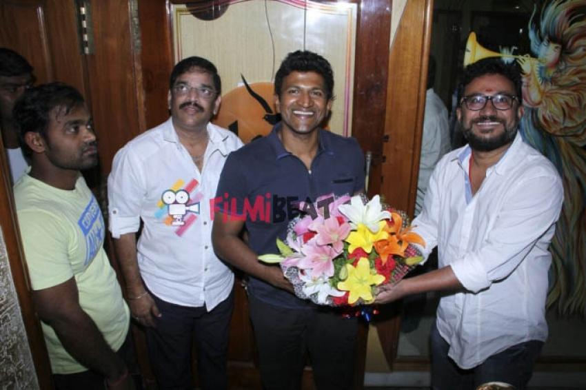 Puneeth Rajkumar Sings For Film 'Rudra Tandava' Photos