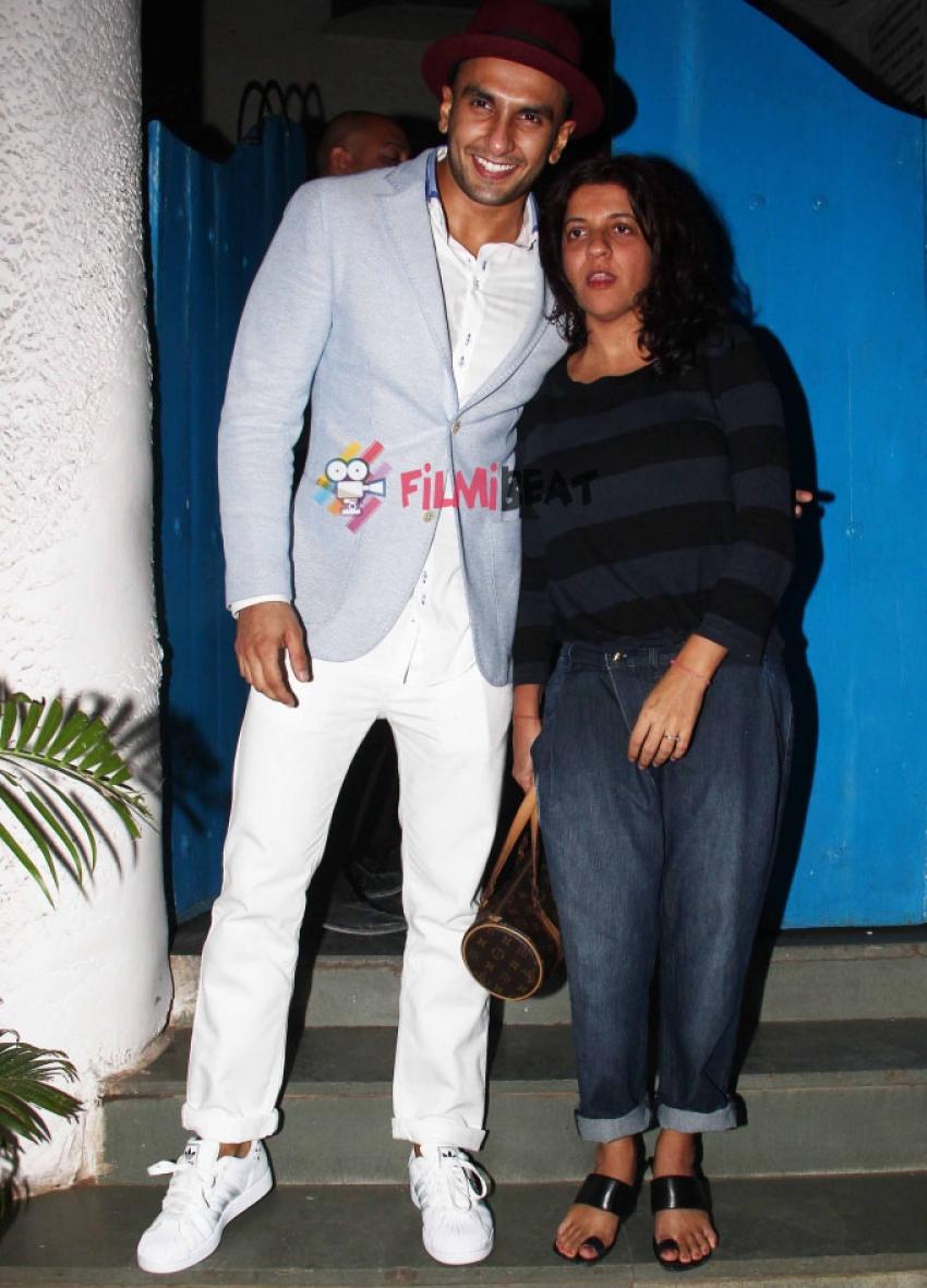Ranveer Singh And Zoya Akhtar Snapped At Olive Bandra Photos