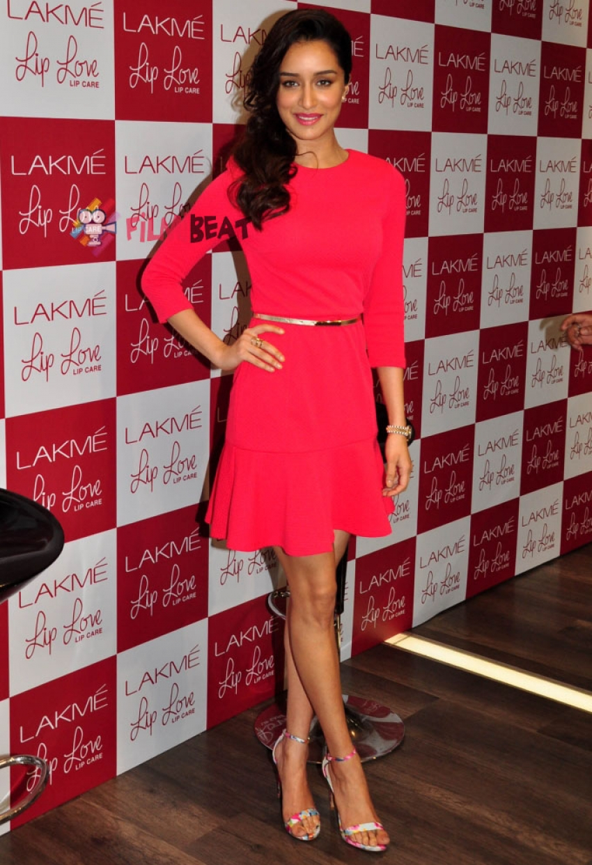 Shraddha Kapoor Launches Lakme Lip Love Photos