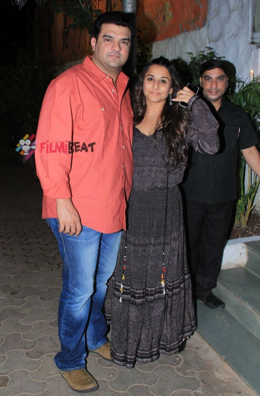 Vidya Balan And Siddharth Roy Kapur Snapped At Olive Bandra Photos