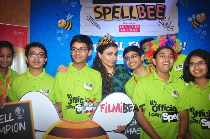 Soha Ali Khan Announces Classmate SpellBee Winner Photos
