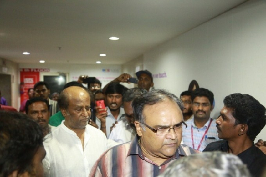 Superstar Rajinikanth Visits K Balachander At Kauvery Hospital Photos