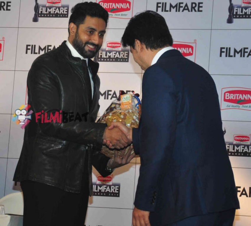 Abhishek Bachchan At 60th Britannia Filmfare Awards Press Meet Photos