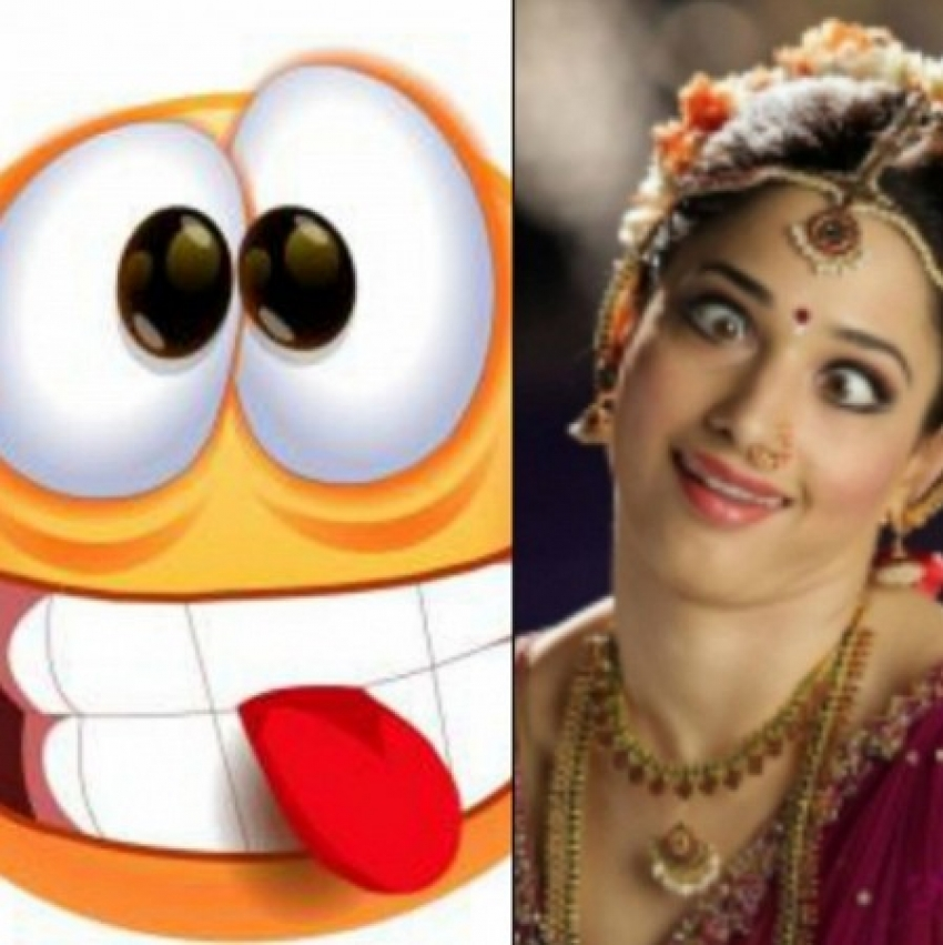Actresses And Funny Smiley Emoticons Photos