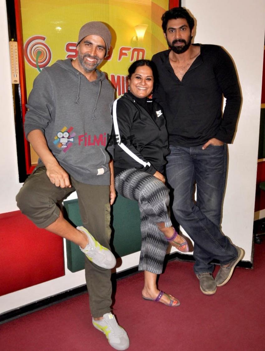 Akshay Kumar & Rana Daggubati Promote 'Baby' At Radio Mirchi Photos