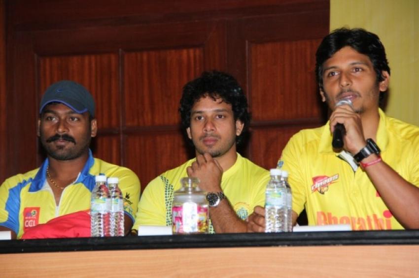 CCL 5 Chennai Rhinos Team Press Meet Photos