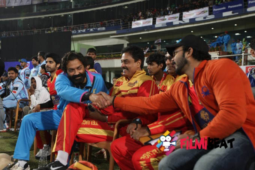 CCL 5 Telugu Warriors Vs Bhijpuri Dabangs Match Photos