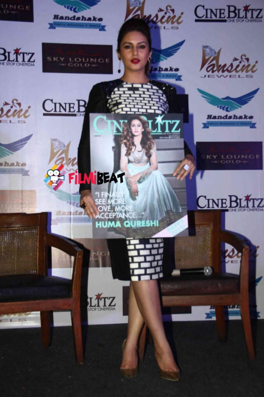 Huma Qureshi Features On The Cover Of Cineblitz Magazine Photos