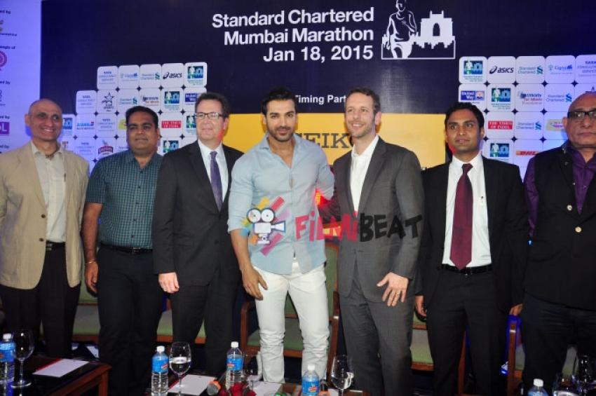 John Abraham At 'Standard Chartered Mumbai Marathon 2015' Press Conference Photos