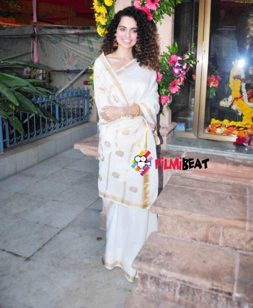 Kangana Ranaut Visited Swami Vivekananda Math At Mumbai Photos