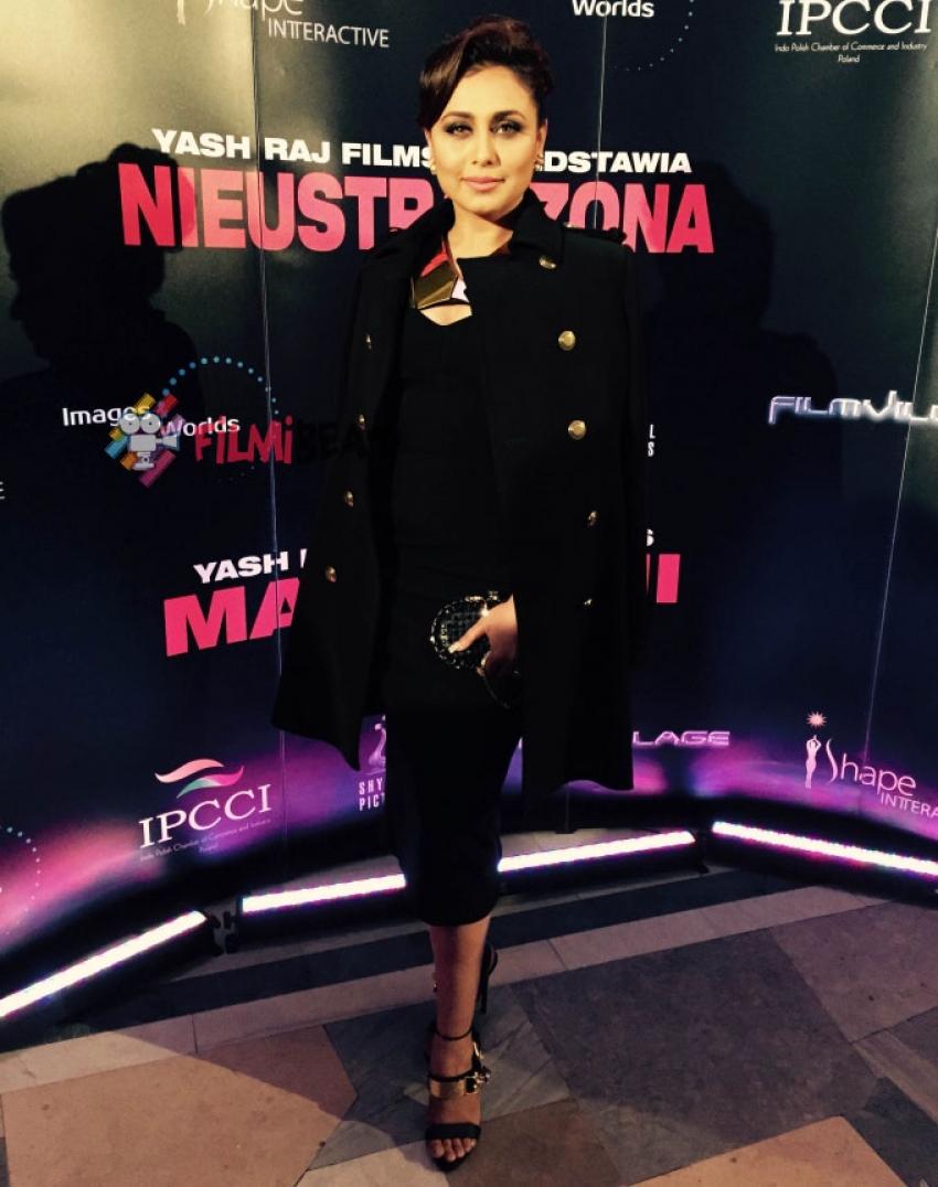 Rani Mukerji At Mardaani Premiere Show In Poland Photos