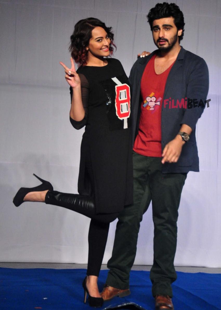 Arjun Kapoor & Sonakshi Sinha Promote 'Tevar' Photos